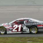 Jason White in the #21 Bowers & Wilkins at Futureshop Dodge at Kawartha Speedway